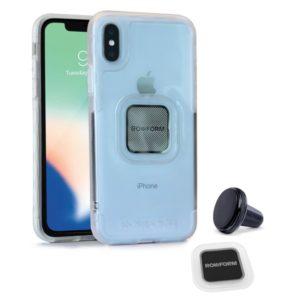 Etui RokForm Socket Case + uchwyt magnetyczny w kratkę wentylacyjną do Apple iPhone X przeźroczyste