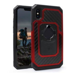 Etui RokForm Fuzion Pro do Apple iPhone X aluminiowe czerwone